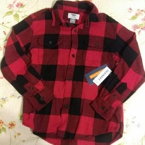 Nwt Old Navy Buffalo Plaid Boys Shirt XS